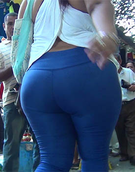 Tight Blue Trousers