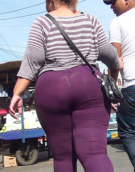 Mega Ass In Purple Tights